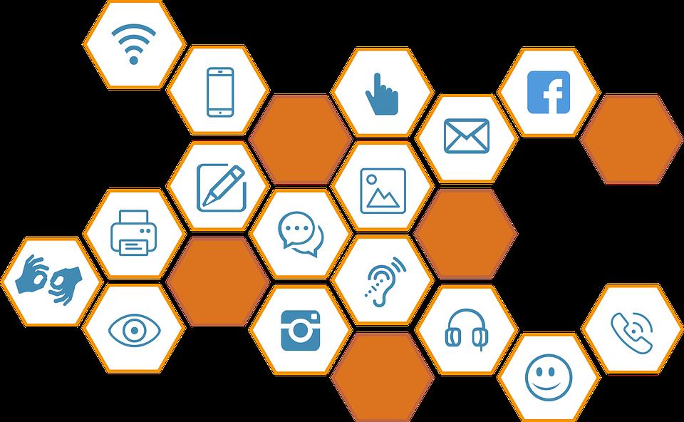 Na ilustracji technologie i aplikacjeś