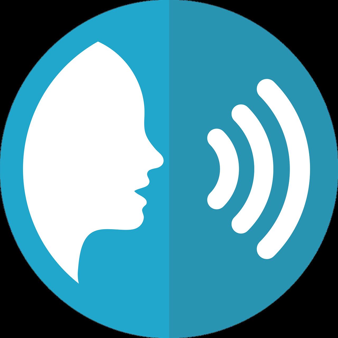 Na ilustracji sterowanie głosem, dźwięk